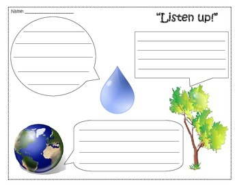 Earth Day Quotation Mark Activity