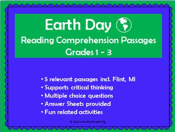 Ecology/ The environment / Earth Day Reading Comprehension