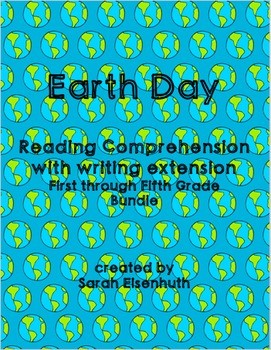 Earth Day Reading Comprehension with Writing Extension 1st