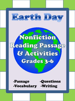 Earth Day Reading Passage Grades 3-6