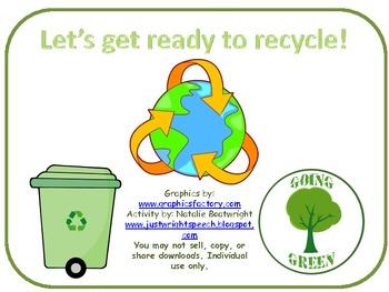 Earth Day Recycling - Freebie