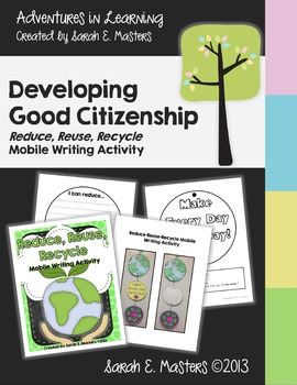 Earth Day - Reduce, Reuse, Recycle - Mobile Writing Activity