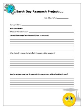 Earth Day Research Project