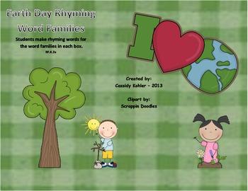 Earth Day Rhyming Word Families