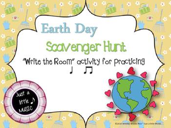 "Earth Day Scavenger Hunt--Rhythm Reading ""Write the Room"""