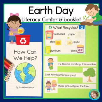 Earth Day Sentence Picture Match and Emergent Reader