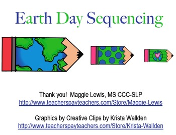 Earth Day Sequencing- Freebie!