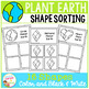 Earth Day Shape Sorting Mats