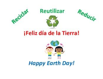 Earth Day Spanish Feliz dia de la Tierra