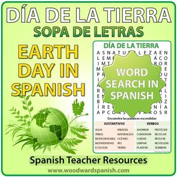 Earth Day - Spanish Word Search - Día de la Tierra