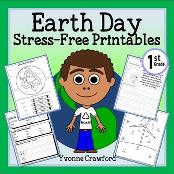 Earth Day NO PREP Printables - First Grade Common Core