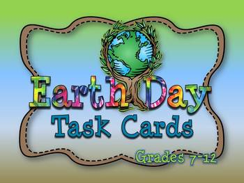 EARTH DAY TASK CARDS