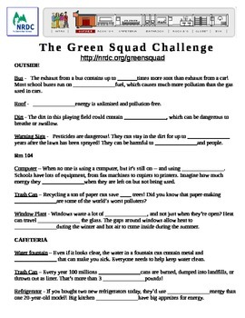Earth Day - The Green Squad Internet Challenge