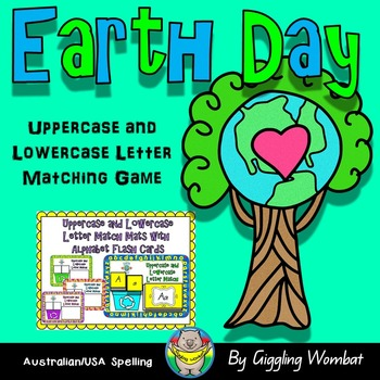 Earth Day Uppercase and Lowercase Letter Match