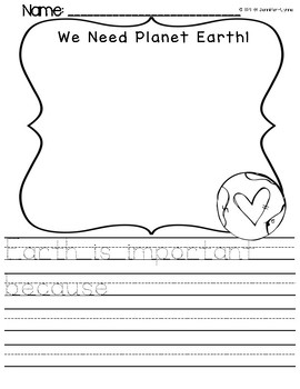 Spring Earth Day WRITING PRINT & GO plus COLOR BY NUMBER {
