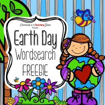 Earth Day Word Search FREEBIE