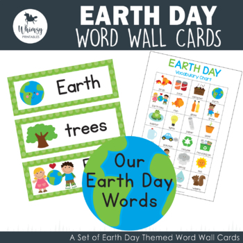 Earth Day  Word Wall Cards - 24 words