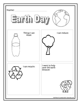 Earth Day Lesson - Writing Activity