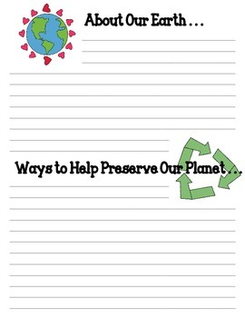 Earth Day Writing Paper Template