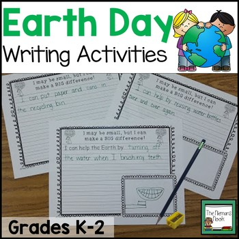 Earth Day Writing Prompts and Coloring Page