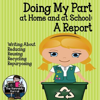 Doing My Part Recycling Report {Earth Day Writing Activity}