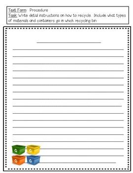 Earth Day Writing Tasks