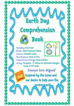 Earth Day Writing and Comprehension Book - Alternative Energies
