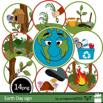 Earth Day sign clipart, ecology