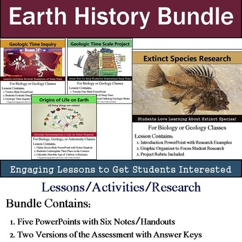 Earth History Unit - (Six 90min Lesson Bundle with Assessment)