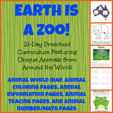 Earth Is a Zoo Preschool Activity Bundle! Science, S.S., F