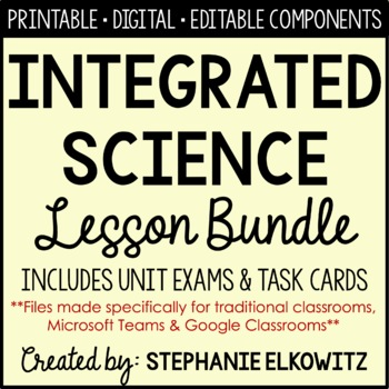 Earth, Life, Physical & Nature of Science Integrated Curriculum