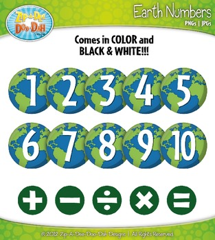Earth Math Numbers Clipart — Over 30 Graphics!