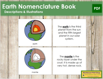 Earth Nomenclature Book