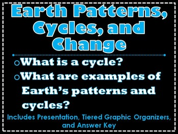 Earth Patterns, Cycles, and Change Lesson and Tiered Organizers