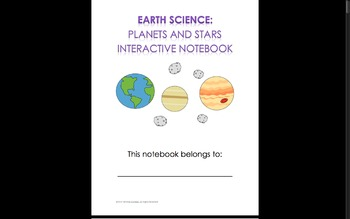 Earth, Planets, and Stars Interactive Notebook Pages