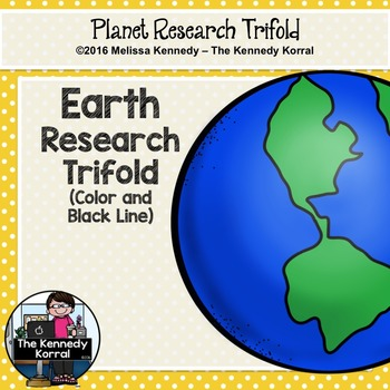 Earth Research Trifold {Space Research, Planets, Solar System}