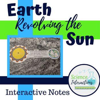 Earth Revolving the Sun and Seasons Foldable