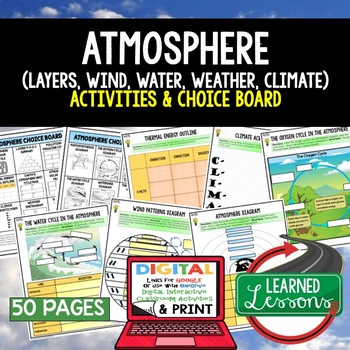 Earth Science Atmosphere Air Water Climate Weather CHOICE