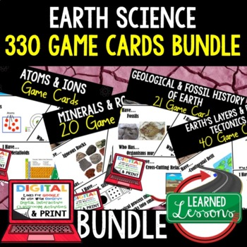 Earth Science Game Cards BUNDLE, 330 Cards (Earth Science BUNDLE)