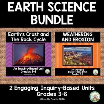 Earth Science Bundle:  Rock Cycle, Weathering, and Erosion