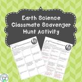 Earth Science Classmate Scavenger Hunt Activity