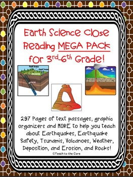 Earth Science Close Reading MEGA PACK Gr. 3-6