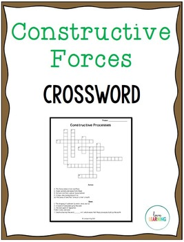 Earth Science: Constructive Forces Crossword Puzzle