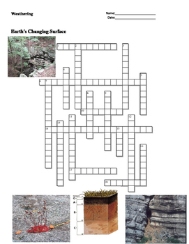 Earth Science - Earth's Changing Surface - Weathering - Cr