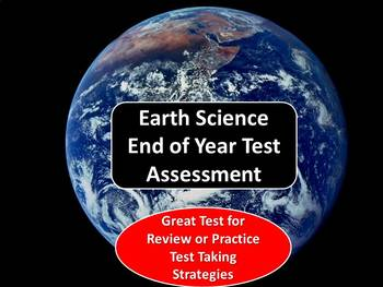 Earth Science End of Year Test Assessment