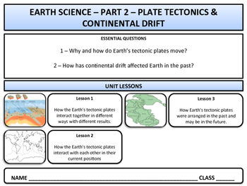 Earth Science & Geography - Unit 2 - Plate Tectonics & Con