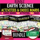 Earth Science Geological & Fossil History Choice Board Act