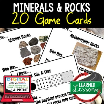 Earth Science Minerals Rocks & Soil Earth's Crust I Have W