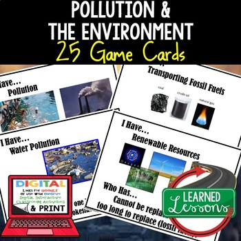 Earth Science Pollution I Have Who Has Game Cards