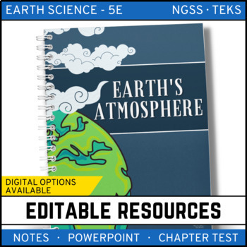 Earth's Atmosphere: Earth Science PowerPoint, Notes & Test